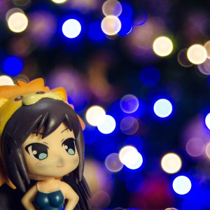 Bokeh with figurine