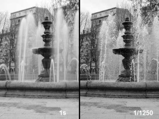 Shutter speed and motion