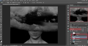 Dark space and dark clouds